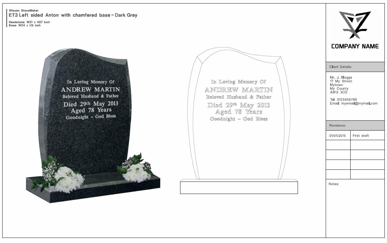 Memorial Design And Stencil Cutting Software Wissen Stonemaker